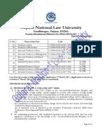 Notification GNLU Teaching Posts