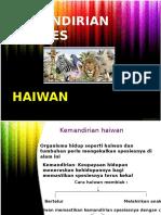 Kemandirian Spesies HAIWAN Dan Tumbuhan