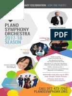Plano Symphony 2017-18 Season Brochure