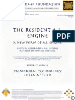 The Resident A.I. - A new Form of A.I.  Culture Generation A.I. Engines resident in Human Culture