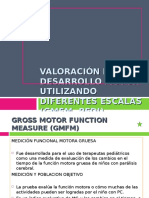 Valoracion Del Desarrollo Motor GMFM GMPM PEDI