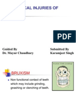 Physical Injuries of oral cavity