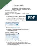 Debugging in SAP