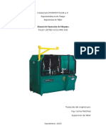 Manual de Operación Máquina Rectificadora