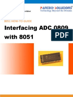 Interfacing ADC 0809 With 8051 Trainer