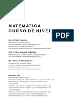 Matematica Curso de Nivelacion Edicion