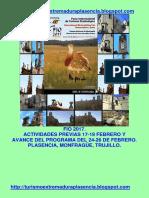Fio 2017 Act. Previas y Avance.plasencia-Monfragüe-Trujillo