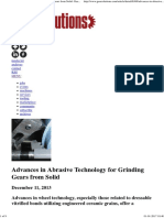 Advances in Abrasive Technology for Grinding Gears From Solid- Gear Solutions Magazine
