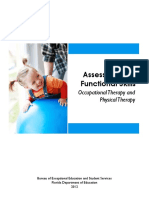 Assessments of Functional Skills  Occupational Therapy and Physical Therapy