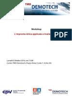 Atti Workshop Impronta Idrica Schio