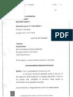 A.P. Tarragona acorda la no complexitat de la causa