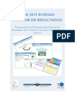 Informe Pisa 2015 Euskadi