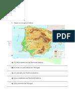 A.1.2 Ficha de Trabalho Características Naturais Da Península Ibérica 1