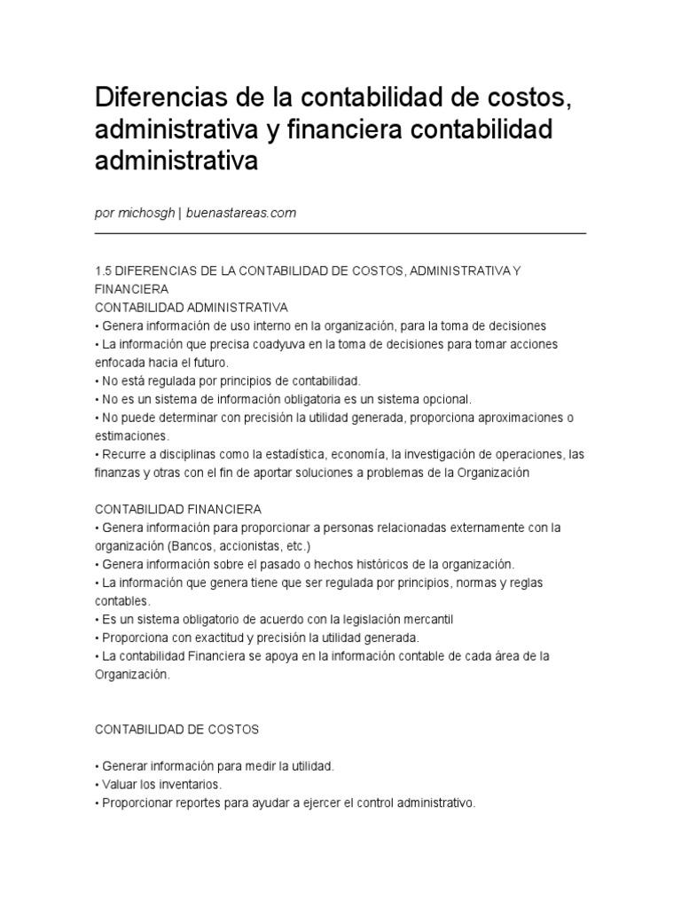 Diferencias de la contabilidad de costos2c administrativa y diferencias de la contabilidad de costos2c administrativa y financiera contabilidad administrativa 28082012 ccuart Choice Image