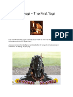 Adiyogi the First Yogi
