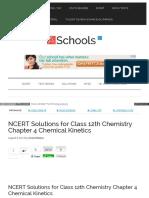 Ch 4 Chemical Kinetics