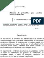 Distribuciones de p. Discretas