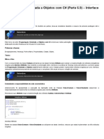 Sinergia - Programação Orientada a Objetos Com C# (Parte 6.9) – Interface