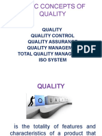 Basic Concepts of Quality