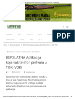 BEPSLATNA Aplikacija Koja Vaš Telefon p...I VOKI _ Lovstvo.info - Lovački Portal