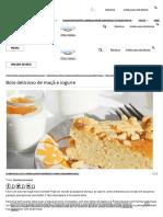 Bolo Delicioso de Maçã e Iogurte _ Alimenta Sorrisos ツ