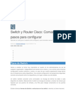 Comando Para Configurar Router y Switch
