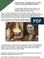 O Testemunho Da Irmã Charlotte - Assassinada Por Expor o Ritual Satânico Dentro Da Igreja Católica Romana