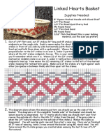 Linked Hearts Basket Pattern