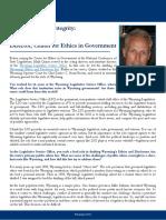 Profile in Public Integrity- Mark Quiner