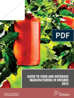 Guide to Food and Beverage Manufacturing in Ontario (OMAFRA, 2015)