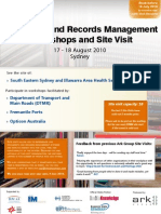 Electronic Document and Records Management Site Visits and Workshops