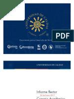 Informe rector al consejo Académico 24 Enero de 2017