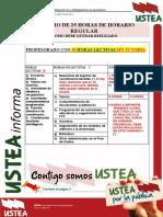USTEA Informa HorarioRegulardeSecundaria