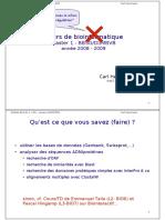 Bioinformatique Cours