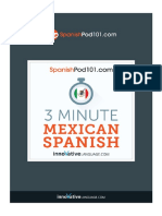3 Minute Mexican Spanish
