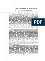History Religious Freedom in Indonesia