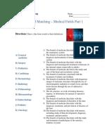 Advanced Matching - Medical Fields Part 1