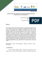 Projeto Politico Pedagogico Dialogos Intercruzados Entre Veiga e Vasconcellos