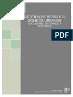 2013 Gestion Residuos Solidos Urbanos