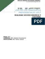 Analisis de Los Candidatos Presidenciales 2017