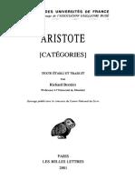 Aristote - Catégories