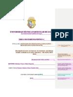 Presentación Formato de TFT Pregrado Distancia
