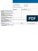 Safety Policy Risk Assessment Template