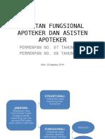 Jabatan Fungsional Apoteker Dan Asisten Apoteker