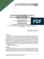Autopercepción de La Ansiedad en Maestros de Primaria De Badajos y Castelo Branco