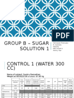 Group B - Sugar Solution 1