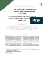 Reforma Electoral y su efecto en el sistema politico venezolano - Héctor Briceno