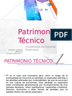 DIAPOSITIVAS PATRIMONIO TECNICO (2) Andreina Miranda y Gabriela Molina