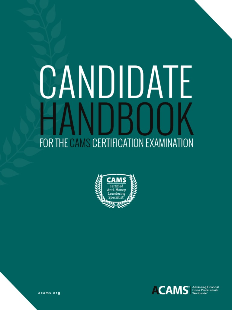 Cams candidate handbook 2017 money laundering professional cams candidate handbook 2017 money laundering professional certification 1betcityfo Images