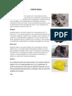 Minerales de Los Paises de Centroamerica
